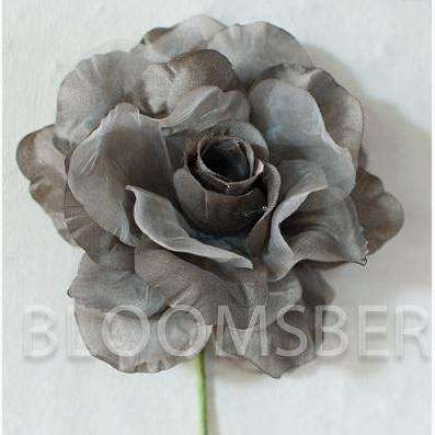 Vintage Style Rose Satin/Chiffon Dove Grey