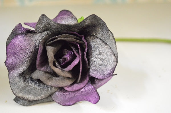 Vintage Style Velvet Rose in Purple