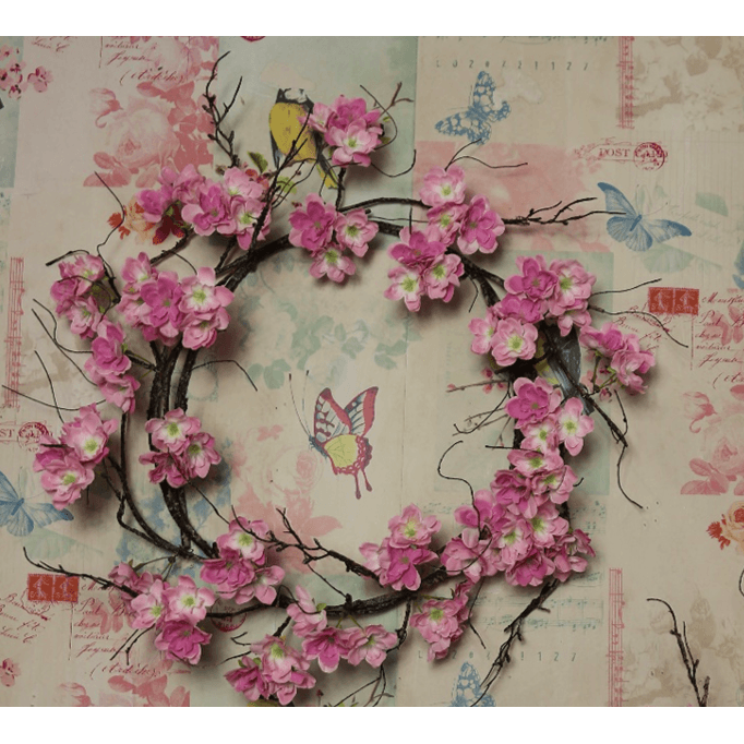 XL Blossom and Twig Wreath