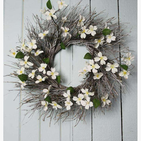 White Dogwood and Willow Wreath
