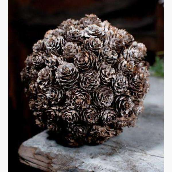 Mini Acorn Covered Hanging Ball