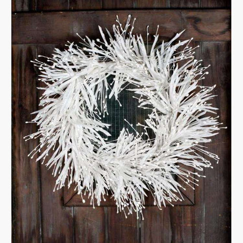 Icy White Foliage & Mini Berry Wreath