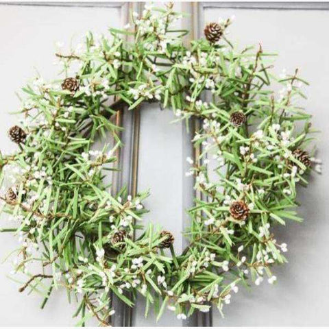 White Berry, Fir Cone & Foliage Wreath