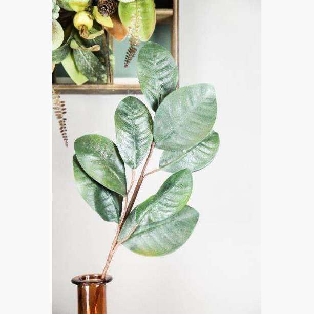 Large Magnolia Leaf Spray - Dark Green