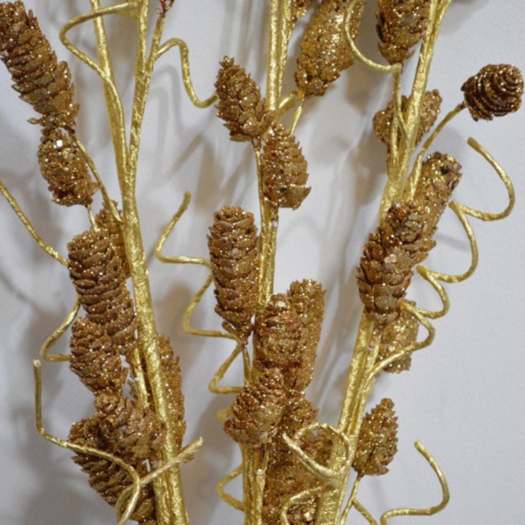 Gold Pine & Curly Twig Bouquet