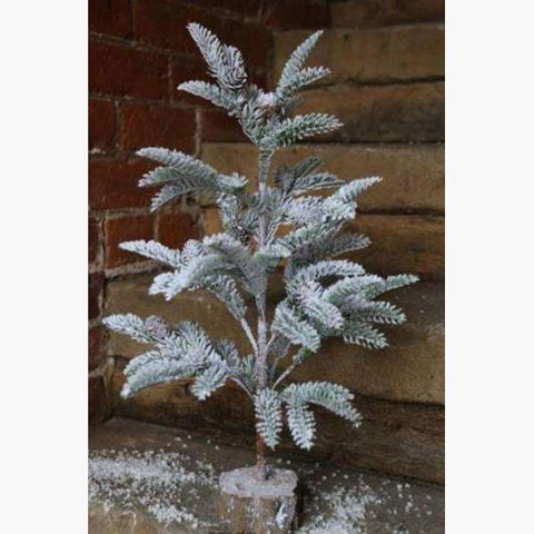 Snowy Fir Tree with Natural Base