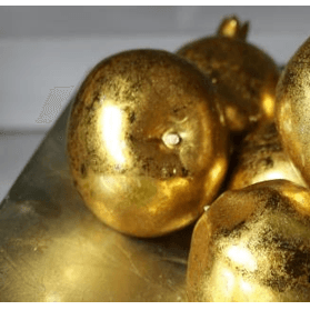 Box of 6 Antique Gold Apples