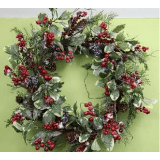 XL Snow Dusted Mixed Berry & Foliage Wreath
