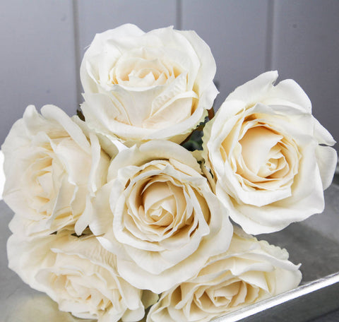 Rose Bouquet of 6 Roses - Cream