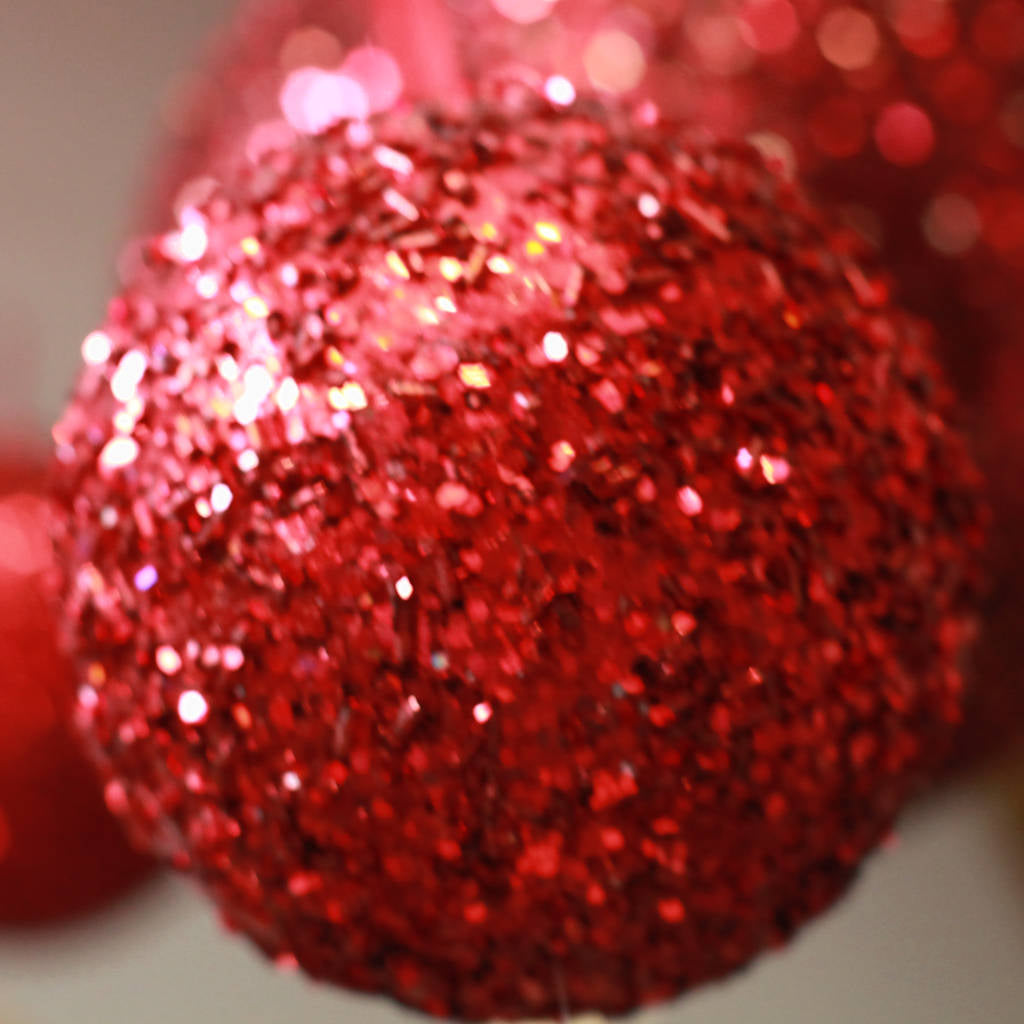 Large Red Glitter Ball