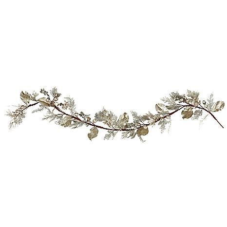 Platinum & Metallic Silver Garland of Berries & Leaves