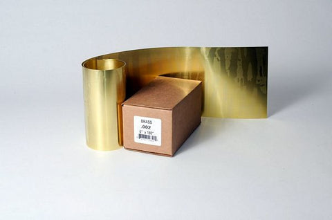 "Brass 260 Half Hard Shim Stock  .003"" x 6"" x 180""  S20603"