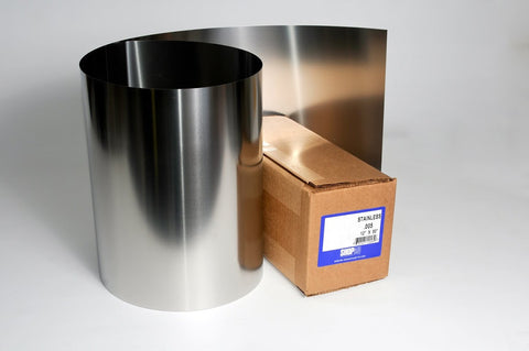 "Stainless Steel Shim Stock .001"" x 12"" x 50"" S12001"