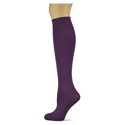 Plum </br>Women's Solid Knee High Socks