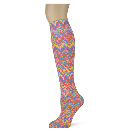 Rainbow zigzag pattern easter  for women and girls