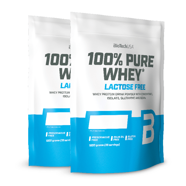 100% PURE WHEY LACTOSE FREE 2X1000 g