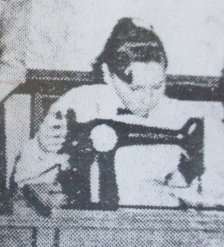Young Sondra Sewing