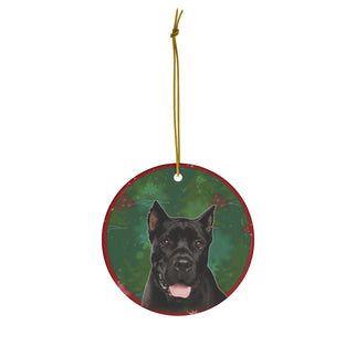 Cane Corso Design Ceramic Christmas Ornaments - JillnJacks Exclusive - Jill 'n Jacks