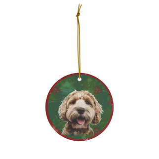 Labradoodle Design Ceramic Christmas Ornaments - JillnJacks Exclusive - Jill 'n Jacks