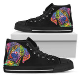 Vizsla Women's High Top Canvas Shoes - Dean Russo Art