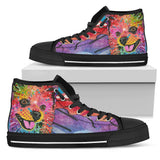 Pomeranian Men's High Top Canvas Shoes - Dean Russo Art