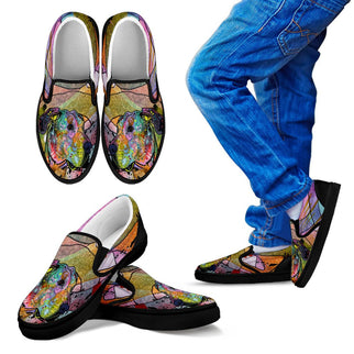 Great Dane Design Kids Slip Ons - Dean Russo Art