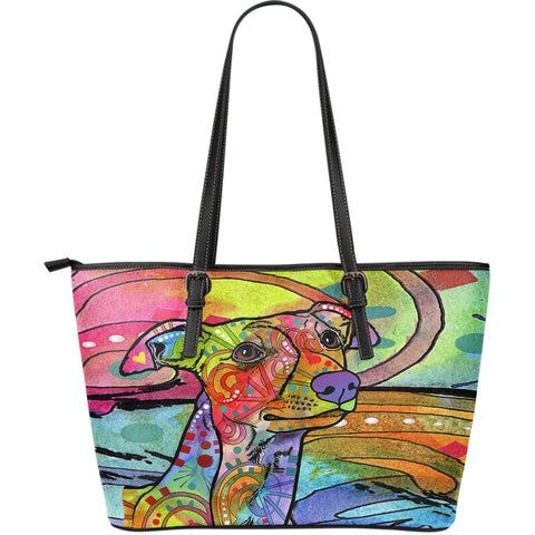 Whippet Large Leather Tote Bag - Dean Russo Art