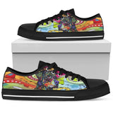 Rottweiler Women's Low Top Canvas Shoes - Dean Russo Art