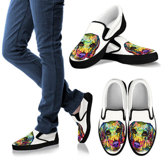 Beagle Design Men's Slip Ons - Dean Russo Art - Jill 'n Jacks