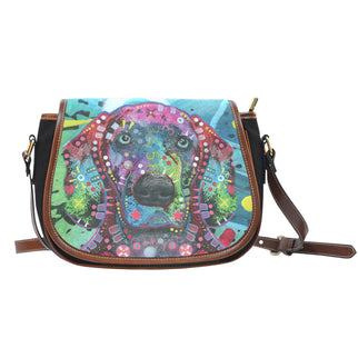 Weimaraner Saddle Bag - Dean Russo Art