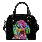 Goldendoodle Shoulder Handbag - Dean Russo Art - Jill 'n Jacks