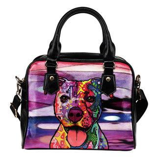 Staffordshire Terrier (Staffie) Shoulder Handbag - Dean Russo Art