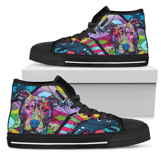 Pitbull Men's High Top Canvas Shoes - Dean Russo Art - Jill 'n Jacks