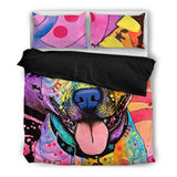 Pit Bull 1 Bedding Set - Duvet Cover plus Two Pillowcases - Dean Russo Art