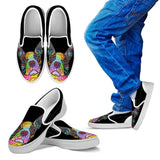 Boston Terrier Design Kids Slip Ons - Dean Russo Art