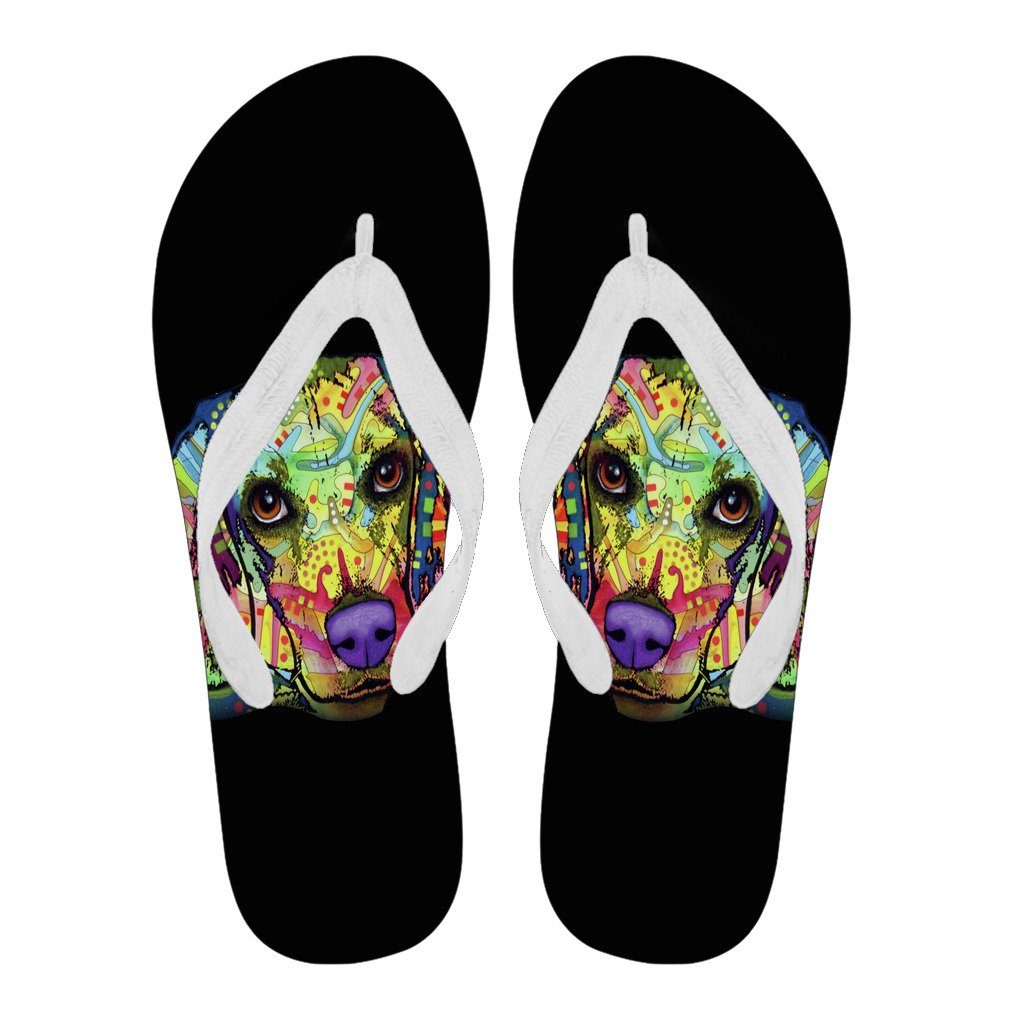 Beagle Design Men's Flip Flops  - Dean Russo Art