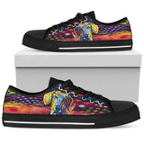 Dachshund Men's Low Top Canvas Shoes - Dean Russo Art