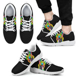 German Shepherd Design Men's Athletic Sneakers - Dean Russo Art - Jill 'n Jacks