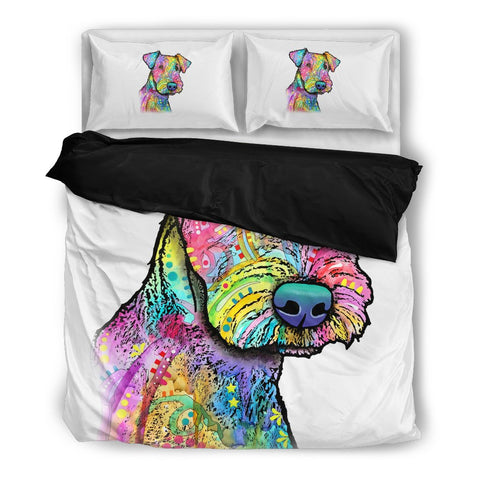 Airedale Terrier Bedding Set - Duvet / Comforter Cover and Two Pillow Covers - Dean Russo Art