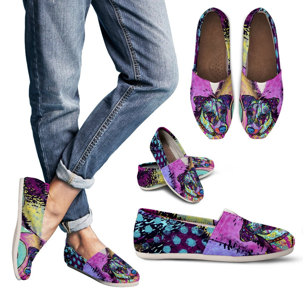 Jack Russell Terrier Design Women's Casual Shoes- Dean Russo Art