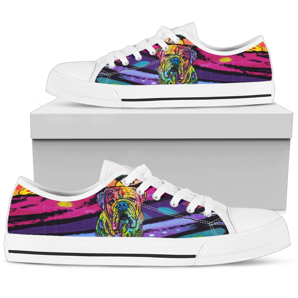 Bulldog Women's Low Top Canvas Shoes - Dean Russo Art