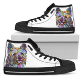 Cairn Terrier Men's High Top Canvas Shoes - Dean Russo Art - Jill 'n Jacks