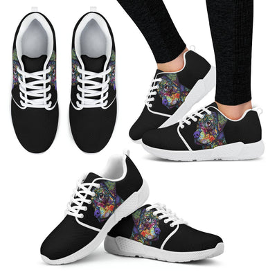 Rottweiler Design Women's Athletic Sneakers - Dean Russo Art - Jill 'n Jacks