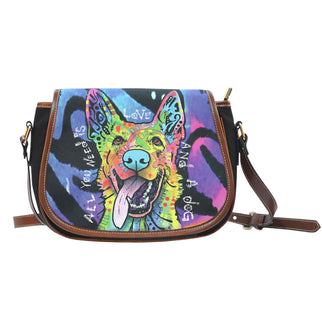 German Shepherd Saddle Bag - Dean Russo Art