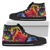 French Bulldog Women's High Top Canvas Shoes - Dean Russo Art - Jill 'n Jacks