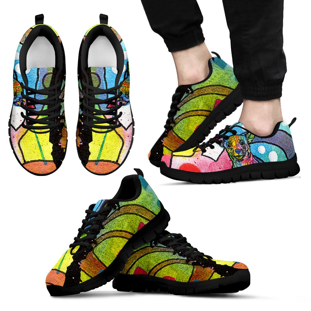 Chihuahua Design Men's Sneakers - Dean Russo Art