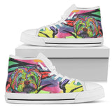 Havanese Men's High Top Canvas Shoes - Dean Russo Art - Jill 'n Jacks