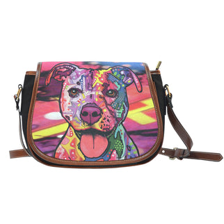 Staffordshire Terrier (Staffie) Saddle Bag - Dean Russo Art