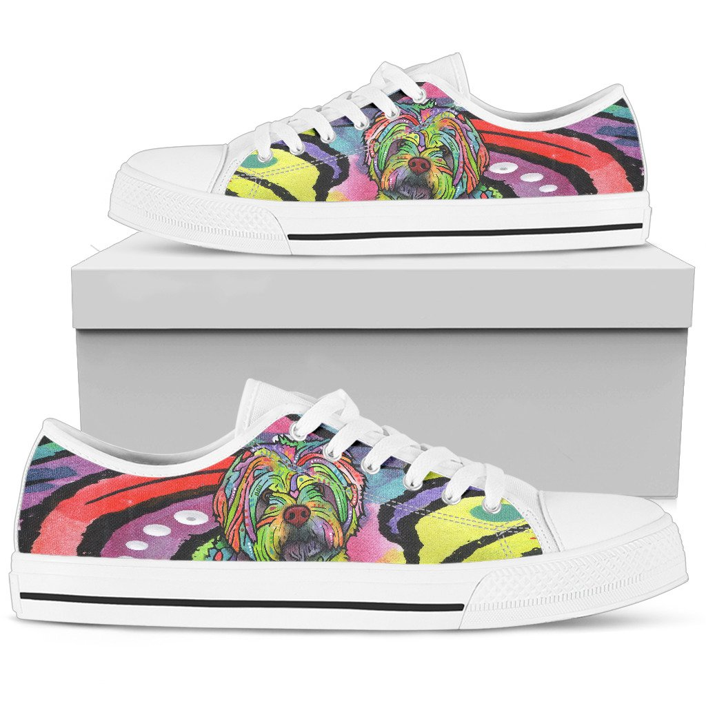 Havanese Women's Low Top Canvas Shoes - Dean Russo Art