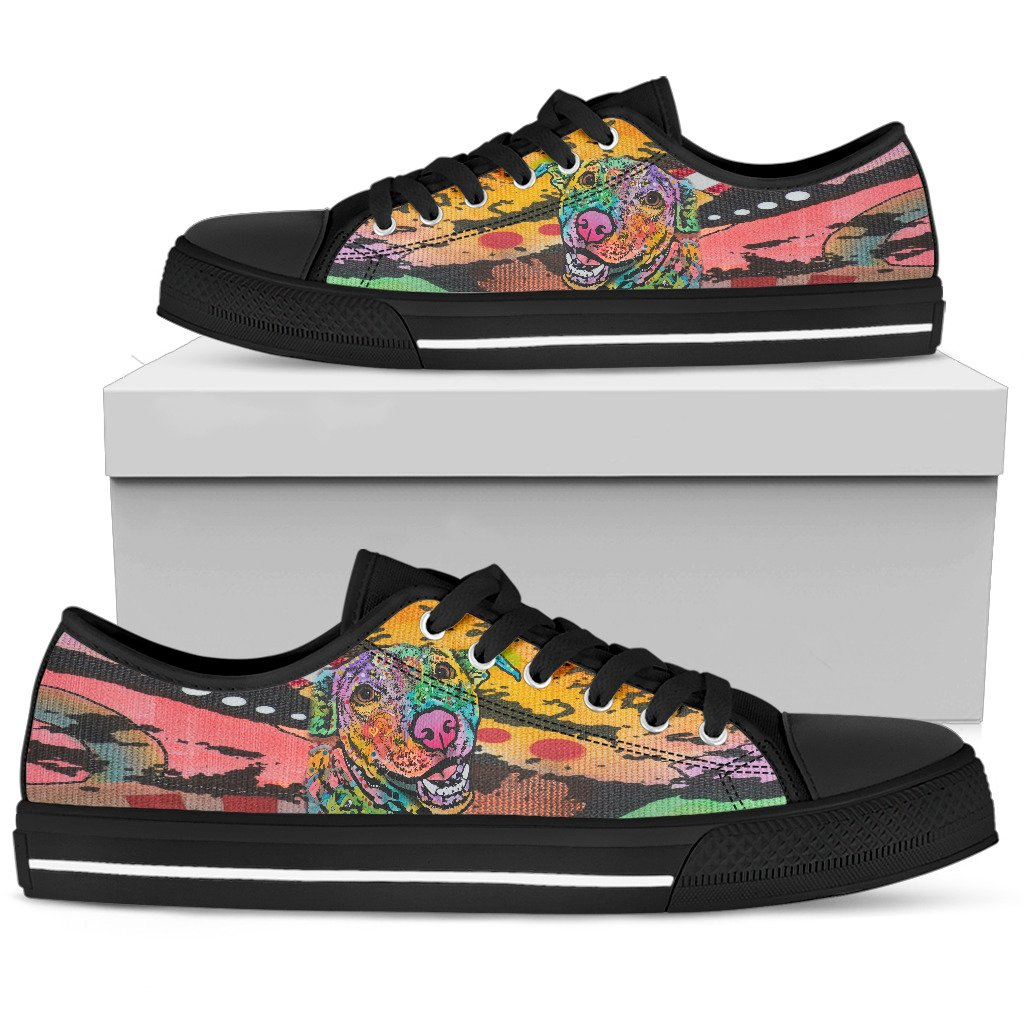 Labrador Men's Low Top Canvas Shoes - Dean Russo Art